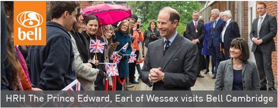 エドワード王子がBellケンブリッジ校を訪問しました!