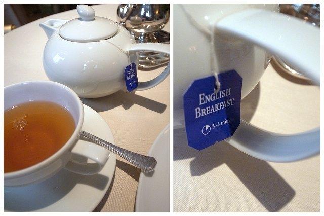 ポットサービスはうれしいのですが、薄い紅茶は何処も?
