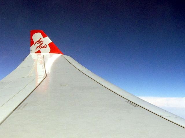 タイ・エアアジアX 機内からの眺め