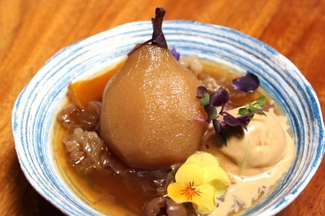 自然な甘みの洋梨のデザート