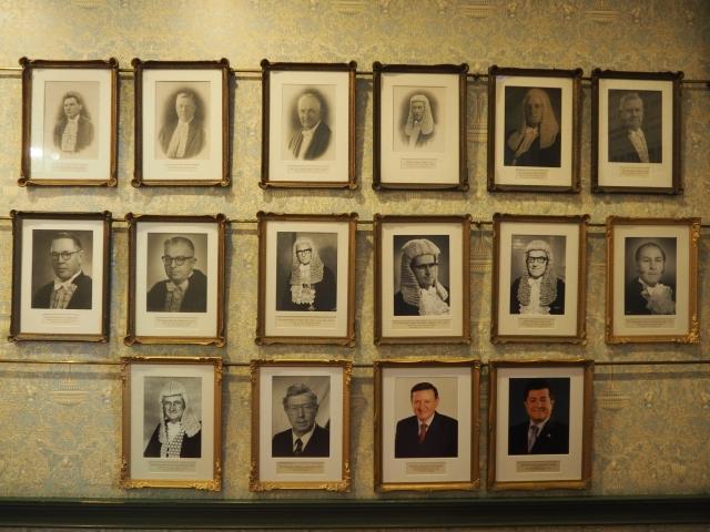 歴代の州議会の議長の写真