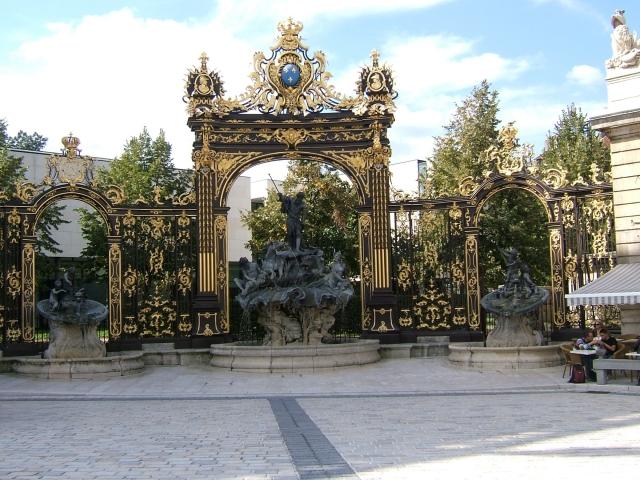ジャン・ラムールのデザインによるスタニスラス広場の鉄柵
