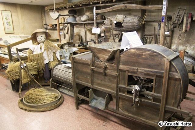 農機具の博物館。近隣で実際に使われていたものを蒐集している
