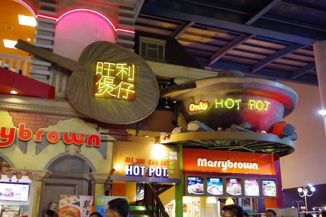 マレーシア風しゃぶしゃぶの店は大混雑