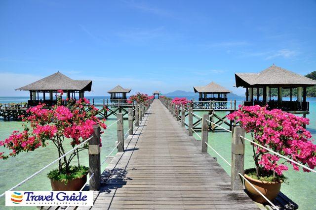ブンガラヤ・アイランドリゾートの桟橋