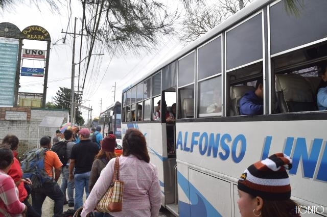 マニラへ帰るバス停