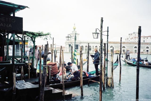 カナル・グランデのゴンドラ乗船場