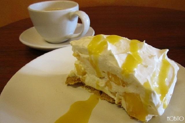 アッパークラスカフェのマンゴーチーズケーキ