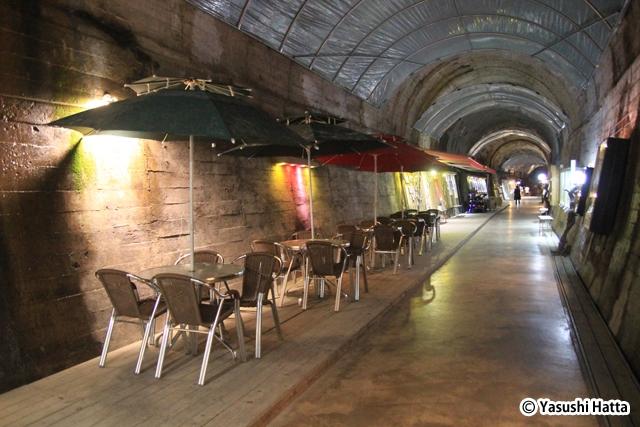 泗川のワインギャラリー。こちらも廃線になったトンネルを利用