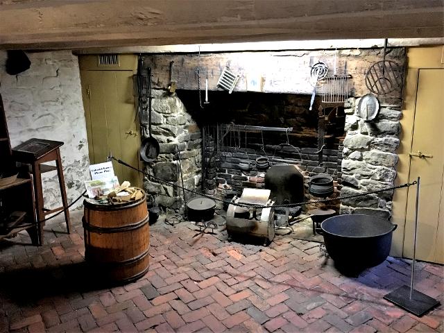 ジョージタウンのオールド・ストーン・ハウスの台所。