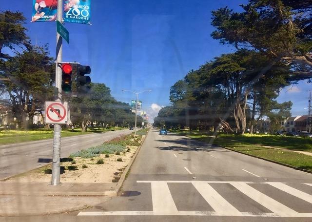 サンセットブルバード横断