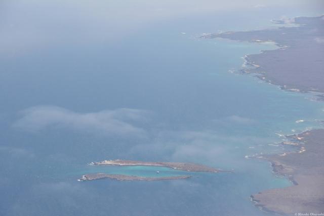 上空から見るガラパゴス諸島