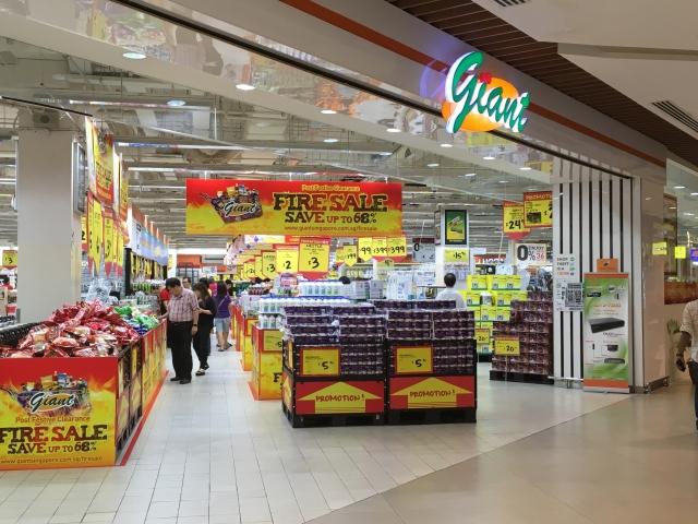 大型スーパー「ジャイアント」でバラマキ土産探し