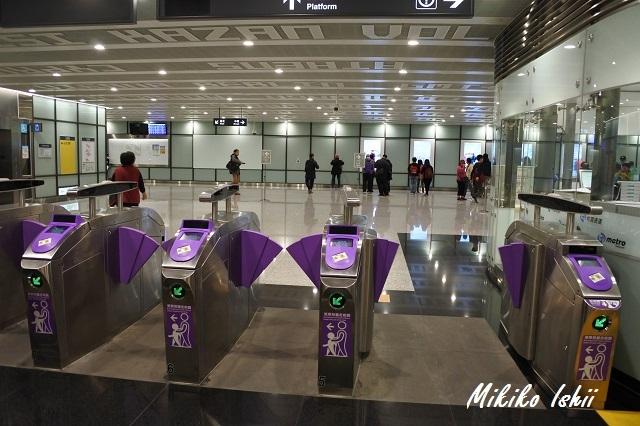 桃園MRTの改札