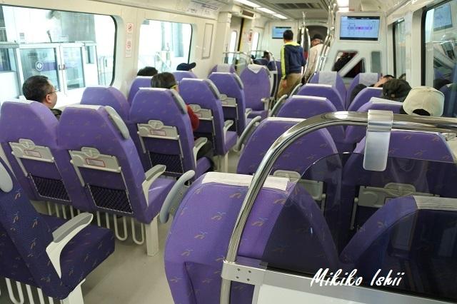桃園MRTの直達車(Express)の車内