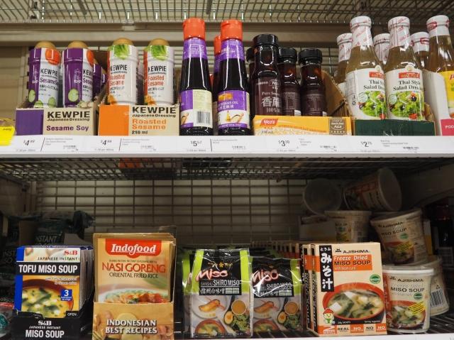 日本食品のコーナーもあります