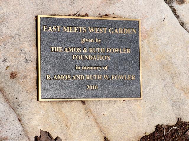 East meet West garden at Duke