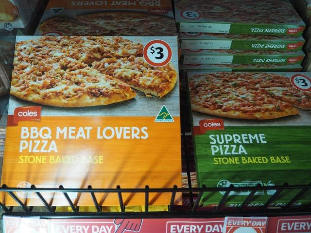ボリュームたっぷりのピザもわずか3AUD
