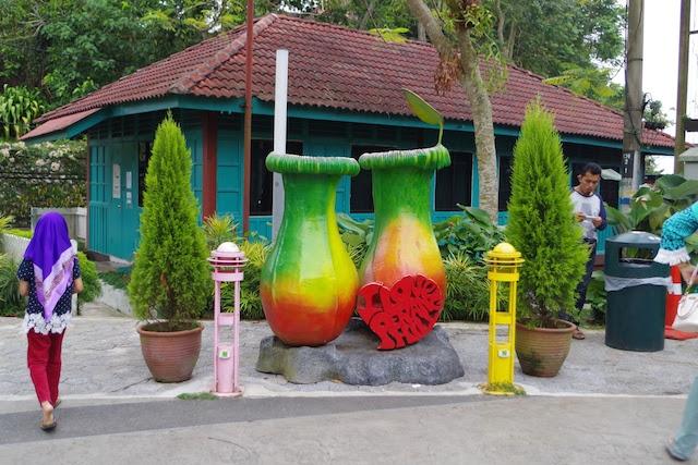 ペナンヒルにある観光地らしい撮影用のオブジェ