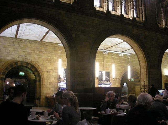 落ち着いた雰囲気の館内カフェ