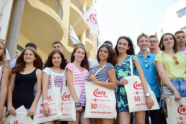 マルタ 夏のジュニアコースの学生たち