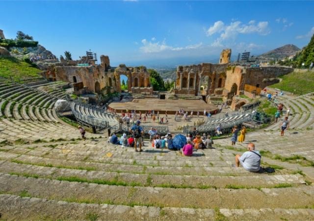 ギリシャ劇場 上からの眺め