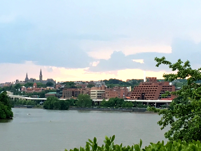 Potomac river and Georgetown