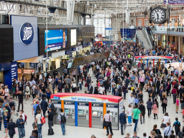 4) London Train Station