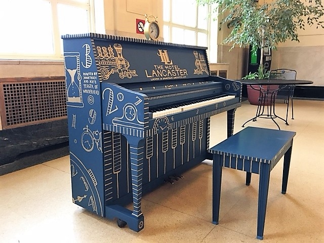 Piano of the Lancaster Hotel