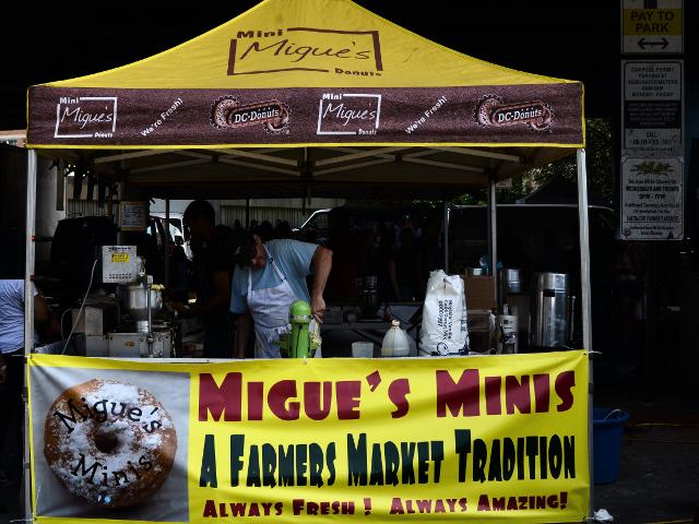 ボルチモアファーマーズマーケットのドーナツ屋Migue's