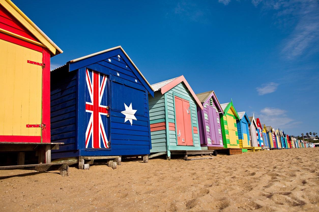 オーストラリア メルボルン ブライトンビーチ 小屋