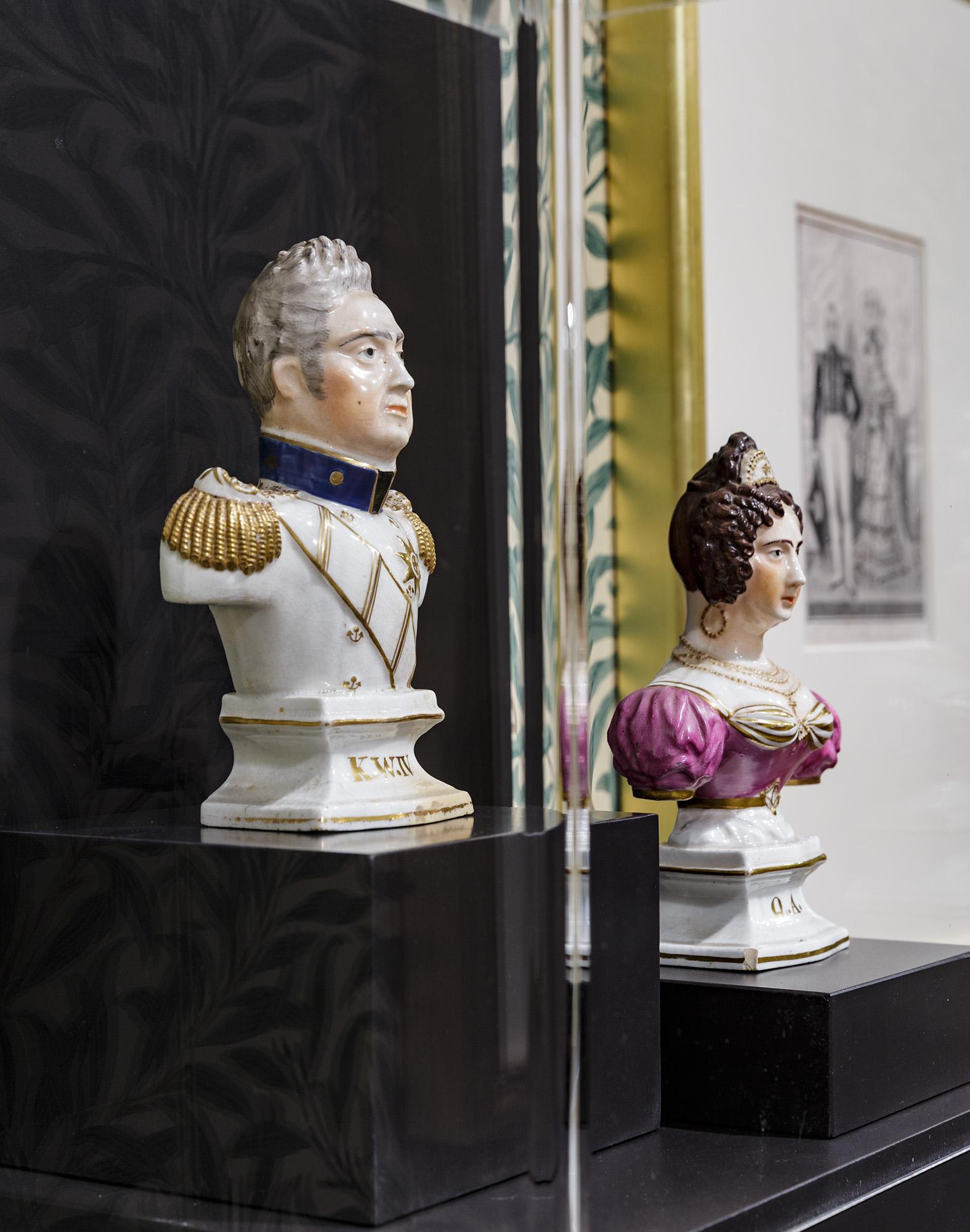 王と王妃の銅像
