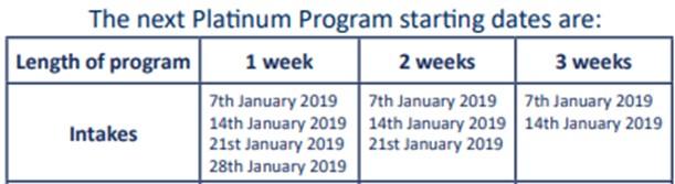 プログラム予定表