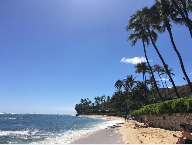 ハワイのビーチ ダイアモンドヘッド