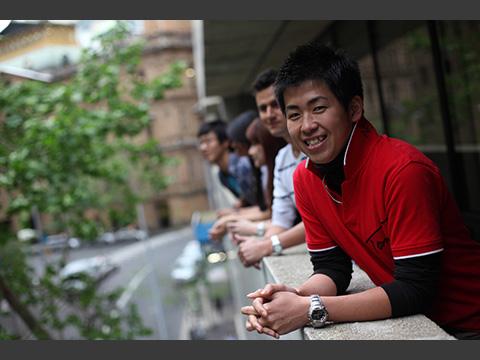 30ヶ国以上からの留学生が集うキャンパス